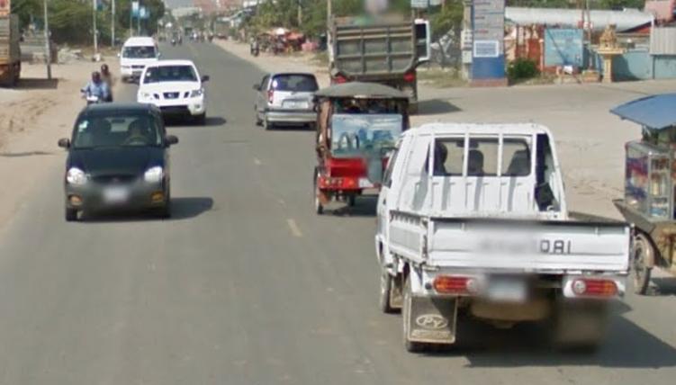 Cambodian road in GeoGuessr